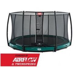BERG InGround Elite Vert 330 + Filet de sécurité Deluxe