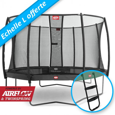 BERG Champion Grey ø 430 + Filet de sécurité Deluxe