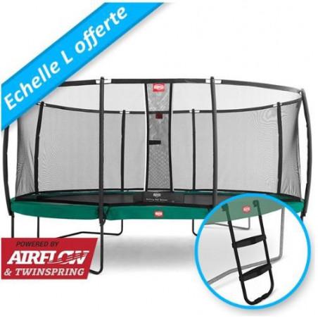 BERG Grand Champion 520 Vert + Filet de sécurité DeLuxe