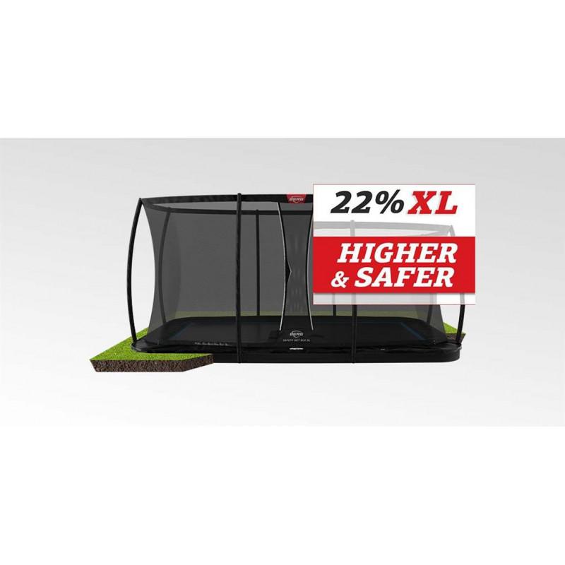 BERG Ultim Elite FlatGround 500 Black + Safety Net DLX XL